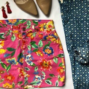Kate Spade Denim Floral Skirt